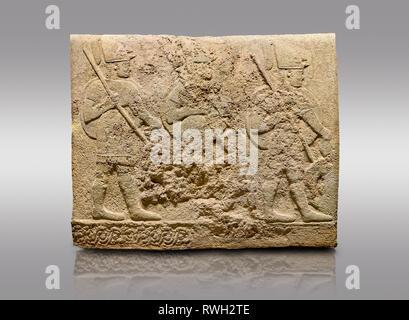 Picture & image of Hittite sculpted orthostats of Long Wall Limestone, Karkamıs, (Kargamıs), Carchemish (Karkemish), 900-700 BC. Anatolian Civilisatio - Stock Photo