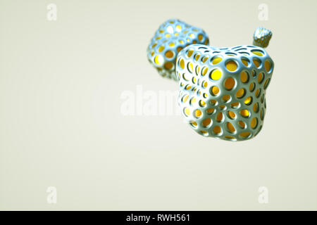 3d cluster of color spheres isolated on white background - Illustration 3d rendering - Stock Photo