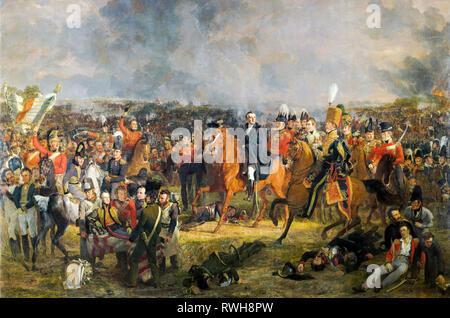 The Battle of Waterloo, Jan Willem Pieneman, 1824, painting - Stock Photo