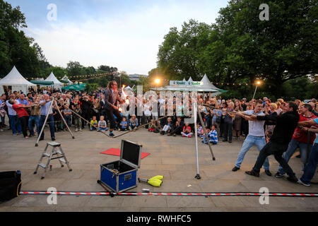 Essen, North Rhine-Westphalia, Ruhr area, Germany - Park festival in the Grugapark, here on the occasion of the Essen 2017 Green Capital of Europe. Es - Stock Photo
