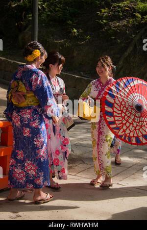 Asia, Japan, Kansai Region, Nara, Fushimi Inari Shrine - Stock Photo