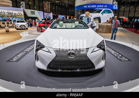 Lexus LC Convertible Concept was presented during the 2019 Geneva International Motor Show on Wednesday, March 6th, 2019. (CTK Photo/Josef Horazny) - Stock Photo