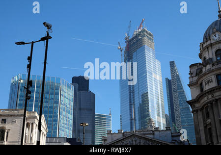 22 Bishopsgate building under construction view from Threadneedle Street in the City of London England UK Europe  KATHY DEWITT - Stock Photo