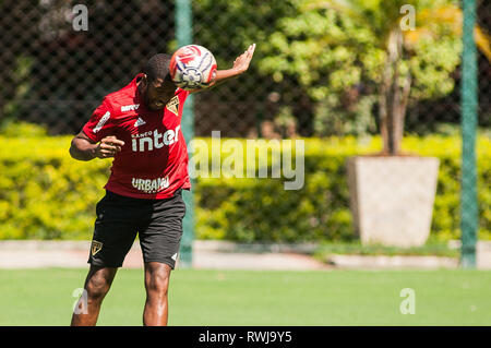 SÃO PAULO, SP - 06.03.2019: TREINO DO SPFC - Jucilei during training at São Paulo Futebol Clube held at CCT Barra Funda, in the West Zone of São Paulo. (Photo: Maurício Rummens/Fotoarena) - Stock Photo