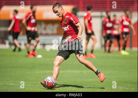SÃO PAULO, SP - 06.03.2019: TREINO DO SPFC - Antony during training at São Paulo Futebol Clube held at CCT Barra Funda, in the West Zone of São Paulo. (Photo: Maurício Rummens/Fotoarena) - Stock Photo