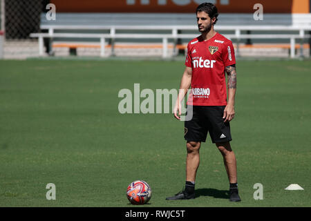 SP - Sao Paulo - 06/03/2019 - Training of Sao Paulo - Hudson during training of Sao Paulo at CT Barra Funda. Photo: Marcello Zambrana / AGIF - Stock Photo
