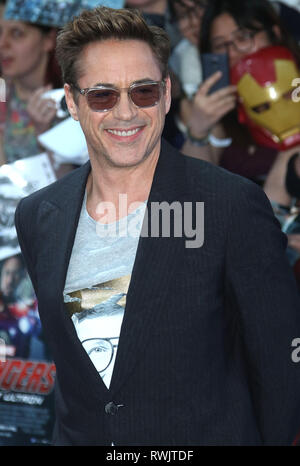 Apr 21, 2015 - London, England, UK - The Avengers: Age Of Ultron European Premiere, Vue Cinema, Westfield - Red Carpet Arrivals Photo Shows: Robert Do - Stock Photo