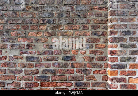 Red brick wall in York as a background - Stock Photo