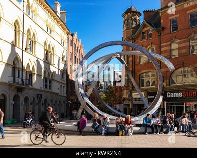 Arthur Square and Corn Market; Belfast, Ireland, Ireland - Stock Photo