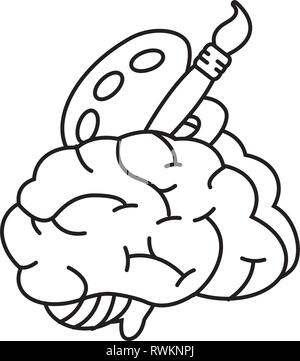 brain idea creativity - Stock Photo