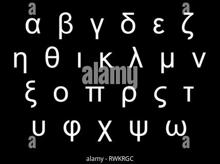 Greek alphabet letters - Stock Photo