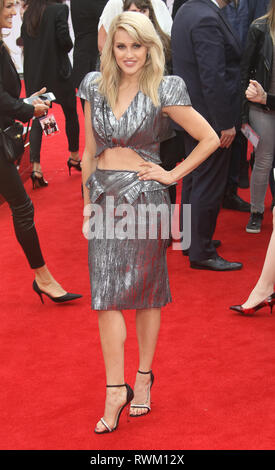 May 27, 2015 - London, England, UK - Spy European Premiere, Odeon Leicester Square - Red Carpet Arrivals Photo Shows: Ashley Roberts - Stock Photo