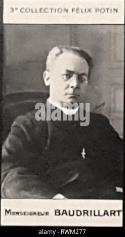Photographic portrait of Monseigneur Baudrillart - From 3rd COLLECTION FÉLIX POTIN, Early 20th century - Stock Photo