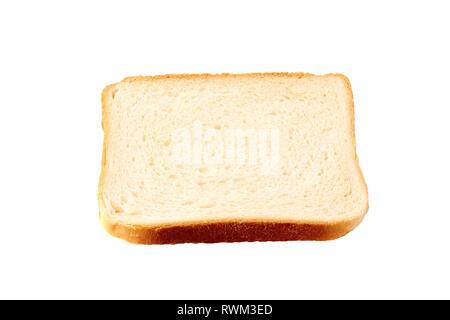 Slice of toast bread on white background - Stock Photo