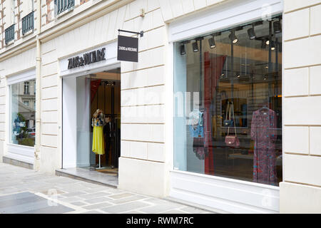 PARIS, FRANCE - JULY 22, 2017: Zadig and Voltaire fashion luxury store in Paris, France. - Stock Photo