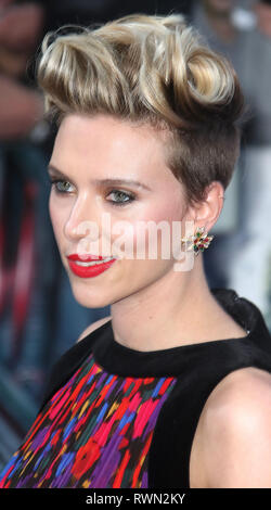 Apr 21, 2015 - London, England, UK - The Avengers: Age Of Ultron European Premiere, Vue Cinema, Westfield - Red Carpet Arrivals Photo Shows: Scarlett  - Stock Photo
