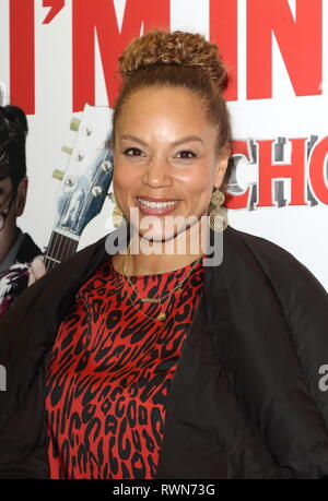 Angela Griffin at the School of Rock The Musical gala at the Gillian Lynne Theatre. - Stock Photo