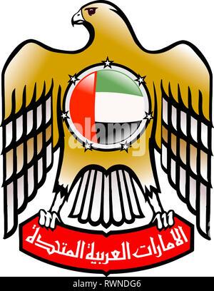 Coat of arms of the United Arab Emirates UAE.