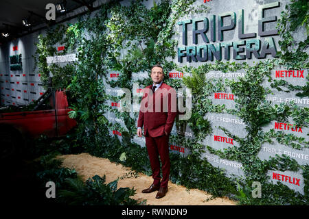Ben Affleck attends the Triple Frontera premiere at Callao City Lights in Madrid. - Stock Photo