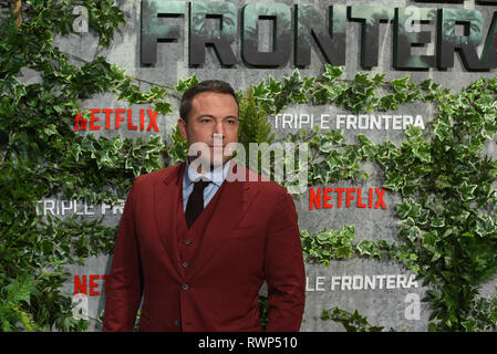 Madrid, Spain. 06th Mar, 2019. US actor Ben Affleck poses as he arrives for the premiere of 'Triple Frontier' at Callao Cinema in Madrid. Credit: Jorge Sanz/Pacific Press/Alamy Live News - Stock Photo