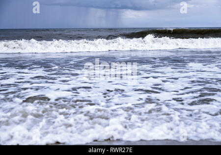 Rough water and waves in Pacific Ocean - Stock Photo