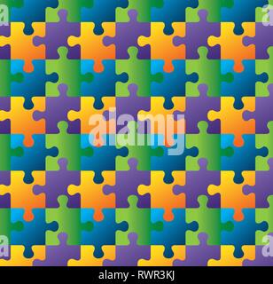 puzzles piece process game background vector illustration