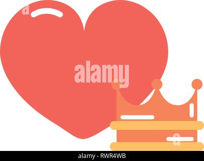 Heart Crown Cartoon Girl Power Vector Illustration Stock Vector Image Art Alamy 800 x 800 jpeg 72. alamy