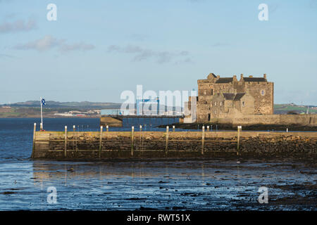 View of Blackness Castle on the Firth of Forth in village of Blackness, Scotland, UK. Location of Outlander TV show, - Stock Photo