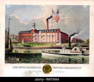 The Howe machine co's factory, Bridgeport, Co. - Stock Photo