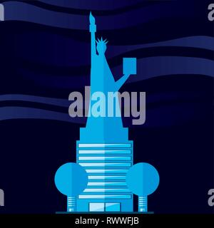statue of liberty structure isolated icon vector illustration design - Stock Photo