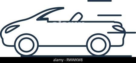 car convertible isolated icon vector illustration design - Stock Photo