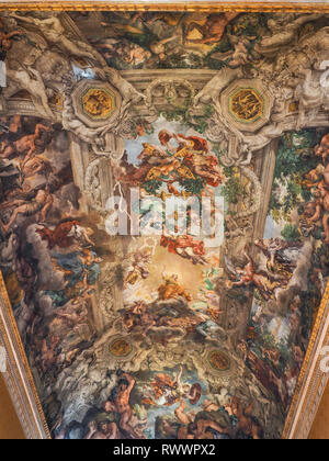 National Gallery of Ancient Art in Barberini baroque Palace with renowned collection of artworks. Allegory of Divine Providence  and Barberini Power. - Stock Photo
