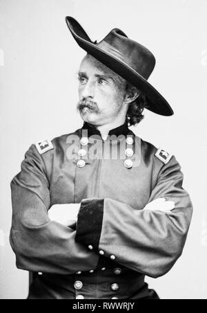 Major General George Armstrong Custer (1839-1876), General Custer, portrait photograph, 1865 - LoC, USA