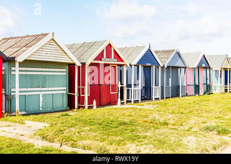 Sutton on Sea Lincolnshire UK England, Sutton On Sea, Lincolnshire, UK. 04th Mar, 2019. UK Weather: 04/03/19 Bright, sunny but very windy day sand dun - Stock Photo