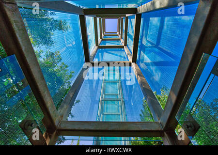 Boston, MA, USA-20 October, 2017: Famous Boston holocaust memorial dedicated to the Jewish people who were killed by Nazi Germany during the Holocaust - Stock Photo