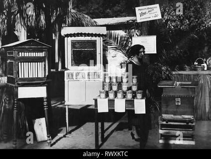 italy, campania, santa maria capua vetere, honey vendor, 1930 - Stock Photo