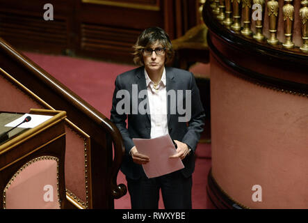 Foto Fabio Cimaglia / LaPresse 07-03-2019 Roma Politica Senato. Question Time Nella foto Giulia Bongiorno   Photo Fabio Cimaglia / LaPresse 07-03-2019 Roma (Italy) Politic Senate. Question Time In the pic Giulia Bongiorno - Stock Photo