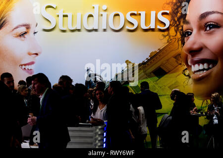 Berlin, Germany. 07th Mar, 2019. Trade visitors at the Studiosus Reisen stand. Credit: Soeren Stache/dpa/Alamy Live News - Stock Photo