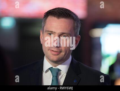 Berlin, Germany. 07th Mar, 2019. Martin Dulig (SPD), Prime Minister of Saxony. Credit: Soeren Stache/dpa/Alamy Live News - Stock Photo