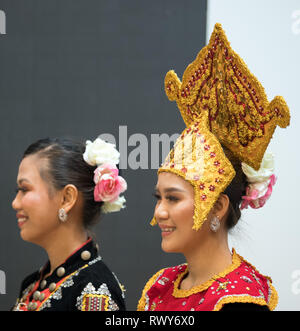 Berlin, Germany. 07th Mar, 2019. Dancers at the stand of the country Malaysia. Credit: Soeren Stache/dpa/Alamy Live News - Stock Photo