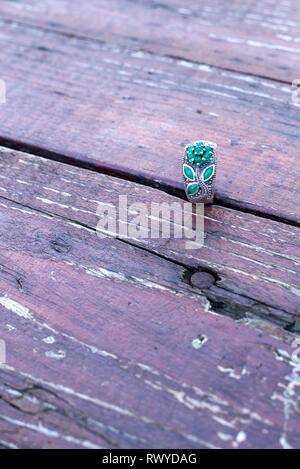 Ring for woman in natural background - Stock Photo