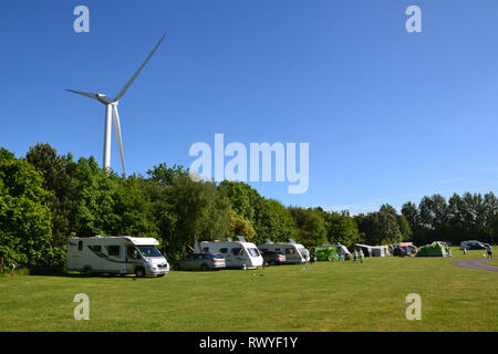 Kessingland Camping and Caravanning Club Site, Kessingland, Lowestoft, Suffolk, UK - Stock Photo