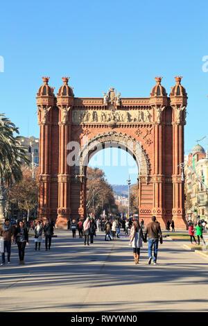Triumphal arch, Barcelona - Stock Photo