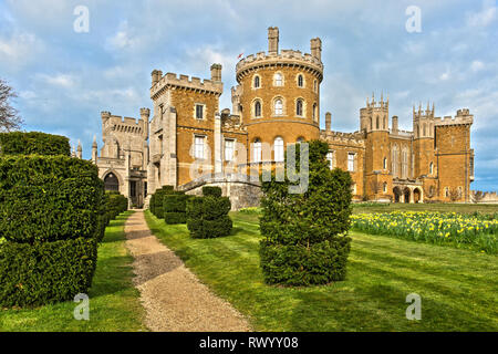 Belvoir Castle and Gardens - Stock Photo