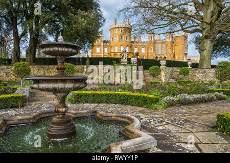 Belvoir Castle Gardens - Stock Photo