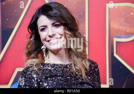 Lidia Schillaci at Captain Marvel premiere red carpet, at Fabrique. Milano, March 5th, 2019 - Stock Photo