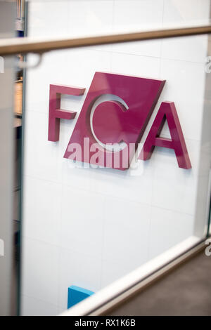 Offices of the Financial Conduct Authority (FCA) in London, Stratford (where it relocated in 2018). - Stock Photo