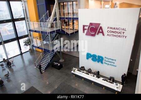 Offices of the Financial Conduct Authority (FCA) and the Payment Systems Regulator (PSR) in London, Stratford - Stock Photo