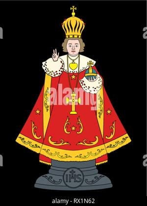Infant Jesus of Prague. Without outline. - Stock Photo