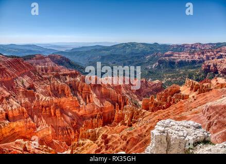 View of Cedar Breaks National Monument in Utah - Stock Photo